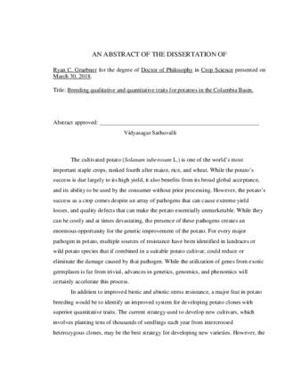 Quantitative masters thesis