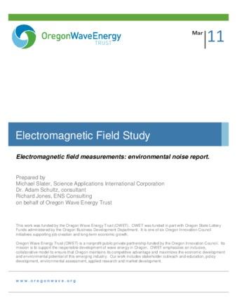 Technical Report | Electromagnetic Field Study | ID: sb397891b
