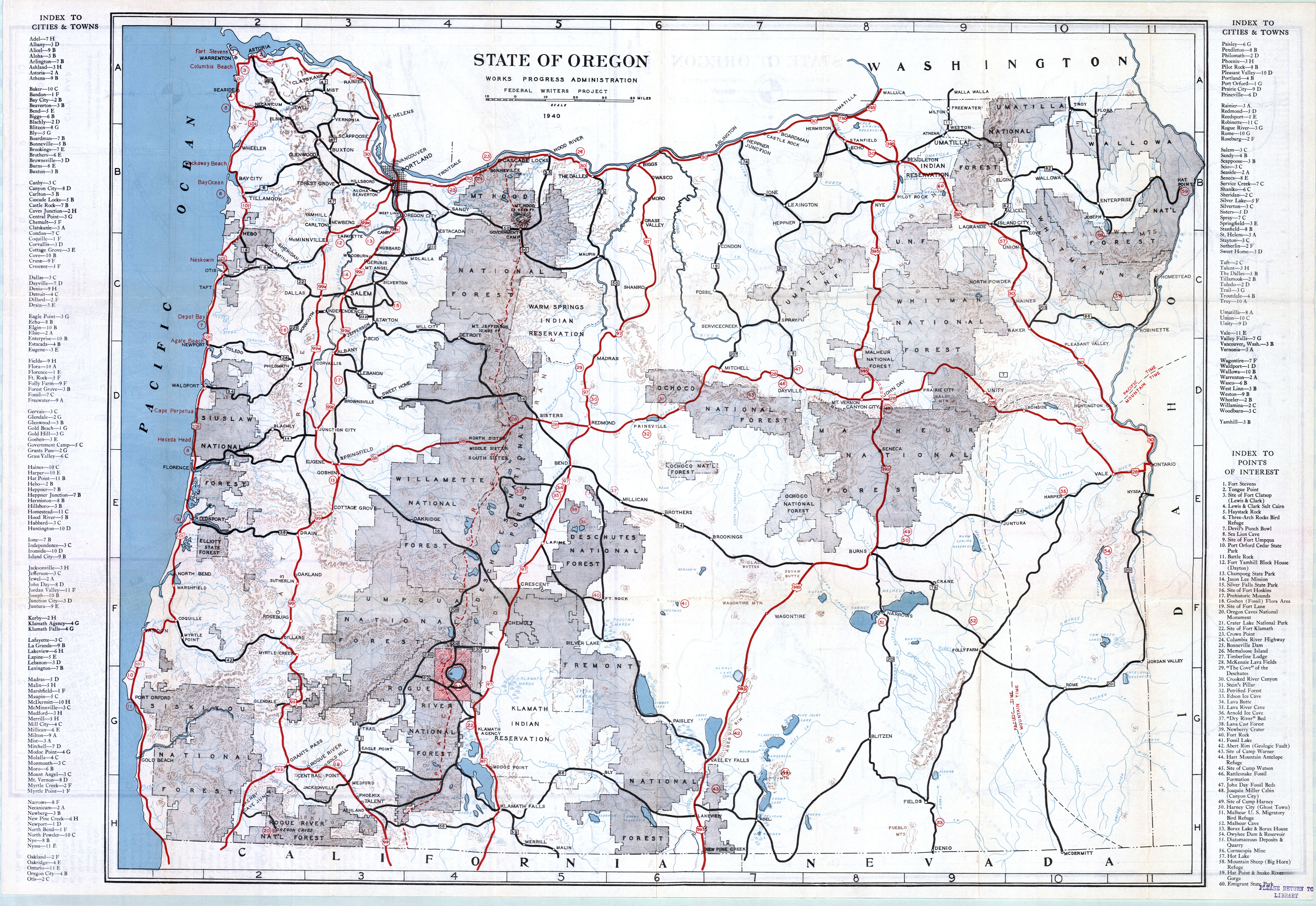 Map Of Oregon Pdf - Oregon state map with cities