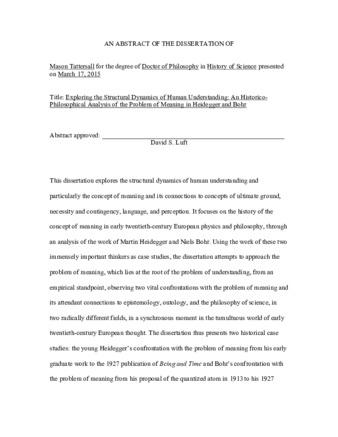 Philosophy dissertation the dissertation