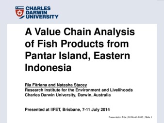 Conference Proceedings Or Journal | A Value Chain Analysis of Fish